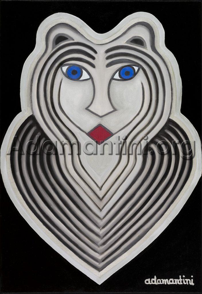 Celestial Woman - Oil On Canvas - adamantini feng shui fine art applications